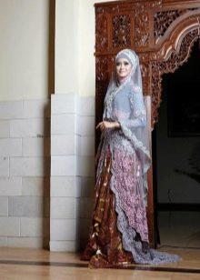 Разноцветное дизайнерское свадебное мусульманское платье