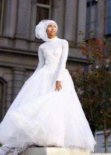 Европейское свадебное платье с гольфом для мусульманской невесты