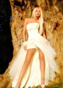Свадебное платье-трансформер откровенное с шортами