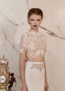 Свадебный наряд откровенный от Lior Charchy