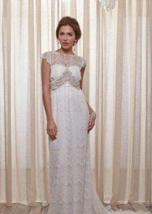 Свадебное платье прямое в стиле ампир