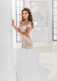 Свадебное платье с иллюзией обнаженного тела от Анна Богдан