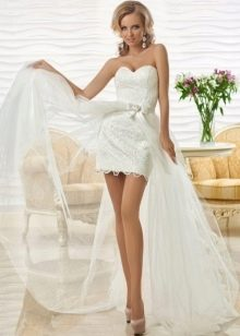 Короткое  свадебное платье от Оксана Муха