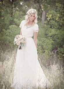 Вырез свадебного платья под горло