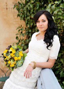 Свадебное платье скромное с рукавами