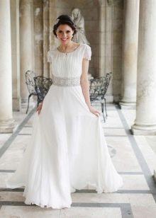 Клиновидный рукав свадебного платья