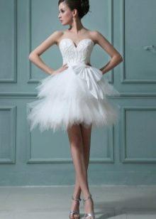 Свадебное пляжное платье пачка