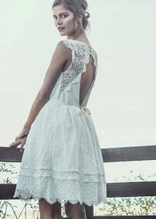 Свадебное пляжное платье из хлопка
