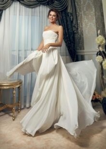 Свадебное платье пляжное из крепа