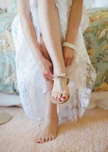 Свадебная пляжная обувь
