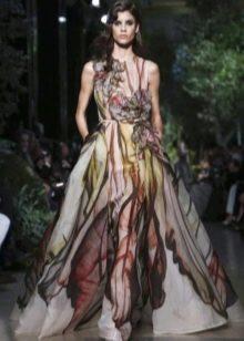 Свадебное платье пляжное цветное
