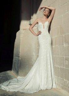 Свадебное летнее платье впол