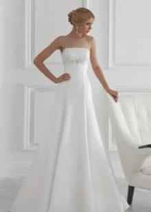 Свадебное платье недорогое А-силуэта