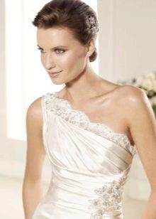 Свадебное платье в греческом стиле с ажуром