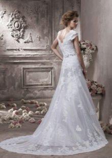 Свадебное кружевное платье-трансформер со съемным верхом