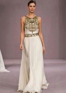 Свадебное платье в греческом стиле с орнаментом