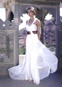 Свадебное греческое платье для пляжной церемонии