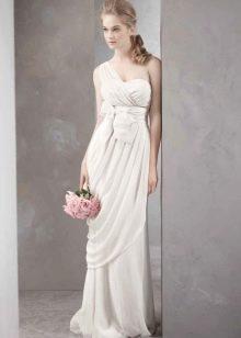 Свадебное платье греческое на одно плечо