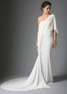 Свадебное платье на одно плечо, переходящее в рукав