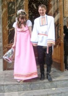 Свадебное платье с рукавом фонариком