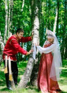 Свадебный сарафан в народном стиле