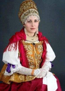 Свадебный народный русский костюм