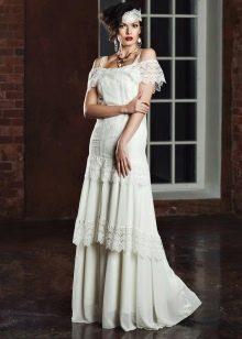 Многоярусное платье в стиле рустик от Bohemian Bride