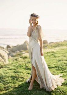 Свадебное легкое рустикальное платье
