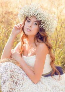 Свадебное платье в стиле рустик от Vesssna кружевное
