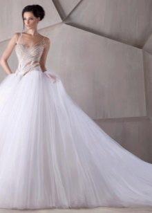 Пышное молодежное свадебное платье