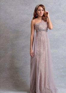 Свадебное платье нежного сиреневого цвета