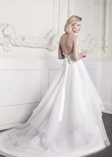 Свадебное А-образное пышное свадебное платье со шлейфом