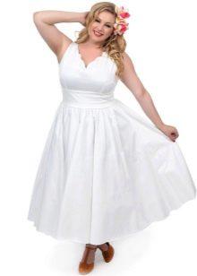 Свадебное платье для полных короткое с пышной юбкой