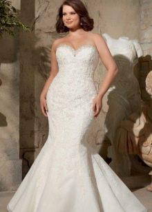 Свадебное платье русалочка для полных