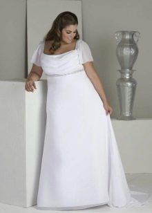 Свадебное платье в стиле ампир с рукавами
