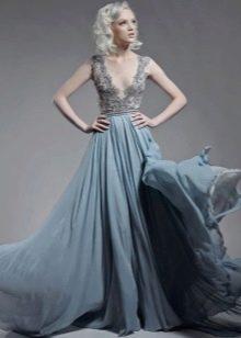 Свадебное платье от Paolo Sebastian синее
