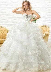 Свадебное платье пышное с каскадной юбкой от Оксаны Мухи