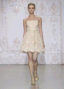 Свадебное платье от Monique Lhuillier короткое