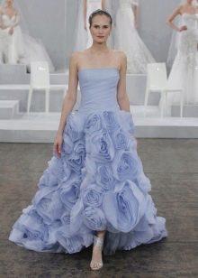 Свадебное платье от Monique Lhuillier синее