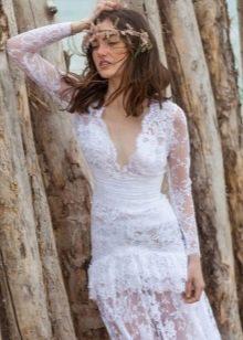 Свадебное платье от Christos Costarellos из кружева