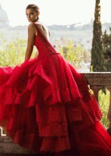 Свадебное платье от Alessandro Angelozzi красное