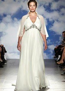 Свадебное платье ампир для невест с фигурой яблоко