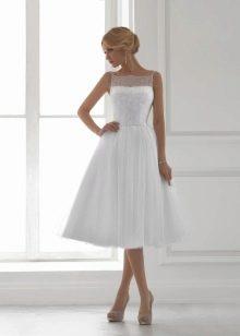 Свадебное платье миди для фигуры песочные часы