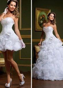 Свадебное платье трансформер для фигуры перевернутый треугольник