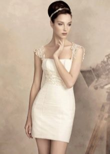 Свадебное платье с завышенной линией талии для песочной фигуры