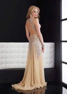 Свадебное платье с вырезом на спине, украшенным стразами