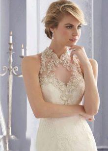 Свадебное платье с ажурным узором