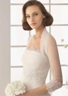 Свадебное болеро с прозрачным рукавом