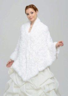 Свадебная шаль-накидка