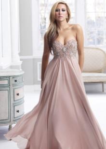Лиловое свадебное платье в стиле ампир